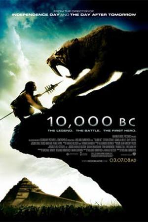 """Poster art for """"10,000 B.C."""""""