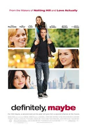 "Poster art for ""Definitely, Maybe."""