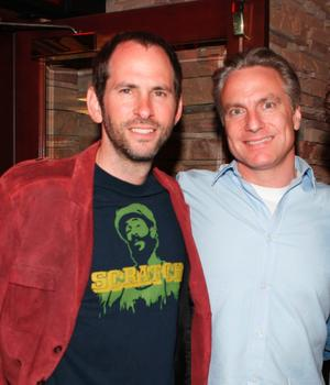 """Director S.R. Bindler and Gordon Prend at the California premiere of """"Surfer, Dude."""""""