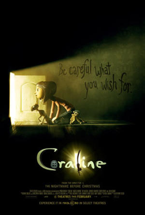 "Poster art for ""Coraline 3D."""