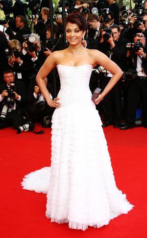 "Aishwarya Rai Bachchan at the France premiere of ""Up."""