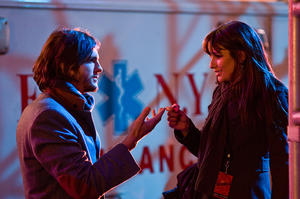 "Ashton Kutcher as Randy and Lea Michele as Elise in ""New Year's Eve."""