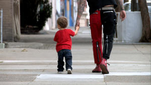 """Lars Frederiksen as Rancid and son in """"The Other F Word."""""""