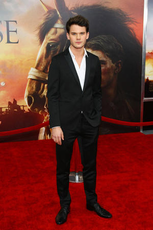 """Jeremy Irvine at the world premiere of """"War Horse"""" in New York."""