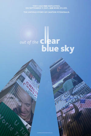 "Poster art for ""Out of the Clear Blue Sky."""