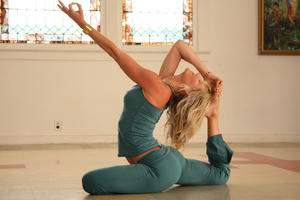 """A scene from """"Yogawoman."""""""