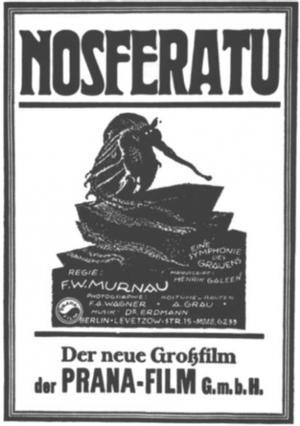 "Poster art for ""Nosferatu."""