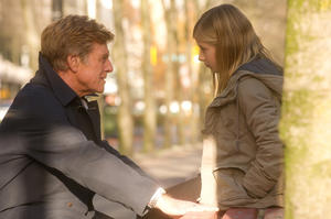 "Robert Redford as Jim Grant and Jacqueline Evancho as Isabel Grant in ""The Company You Keep."""