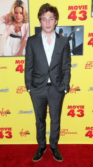 "Jeremy Allen White at the California premiere of ""Movie 43."""