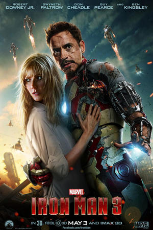 "Poster art for ""Iron Man 3 3D."""