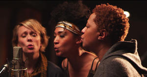 "Jo Lawry, Judith Hill and Lisa Fischer in ""20 Feet From Stardom."""