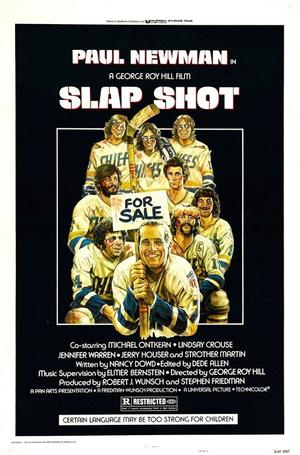 "Poster art for ""Slap Shot."""