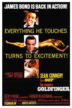"Poster art for ""Goldfinger."""