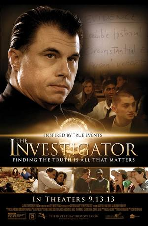 "Poster art for ""The Investigator."""
