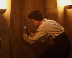 "Aneurin Barnard in the fantasy adventure film ""The Adventurer: The Curse of the Midas Box"" an RLJ Entertainment release."