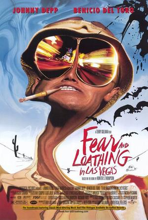 "Poster art for ""Fear and Loathing in Las Vegas."""