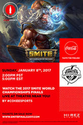 Smite World Championship Viewing Party showtimes and tickets