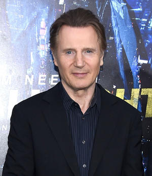 """Liam Neeson at the New York premiere of """"Run All Night."""""""