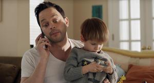"Nick Kroll and Caleb and Matthew Paddock in ""Adult Beginners."""