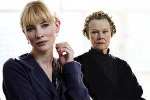 "Cate Blanchett and Judi Dench star in ""Notes on a Scandal."""