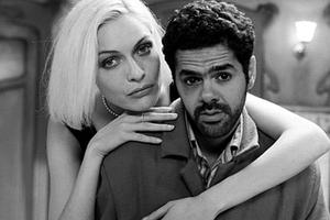 """Angela (Rie Rasmussen) teaches André (Jamel Debbouze) how to accept himself in """"Angel-A."""""""