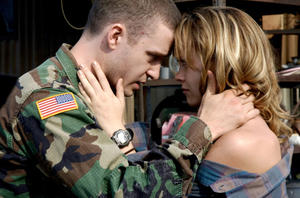 "Justin Timberlake and Christina Ricci in ""Black Snake Moan."""