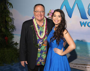 Check out the cast of the California premiere of 'Moana'