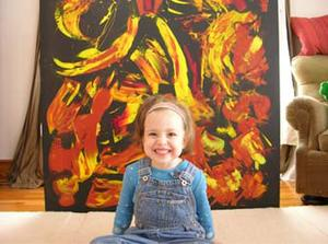 """Marla Olmstead in """"My Kid Could Paint That."""""""