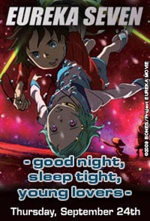 "Poster art for ""Eureka Seven – Good Night, Sleep Tight, Young Lovers."""