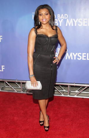 "Taraji P. Henson at the New York premiere of ""Tyler Perry's I Can Do Bad All By Myself."""