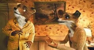 "Mr. Fox and Mrs. Fox in ""The Fantastic Mr. Fox."""