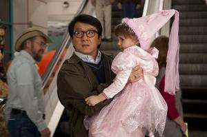 "Jackie Chan as Bob Ho and Alina Foley as Nora in ""The Spy Next Door."""