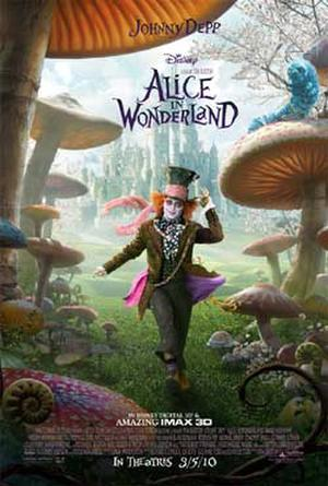 "Poster art for ""Alice in Wonderland: An IMAX 3D Experience."""