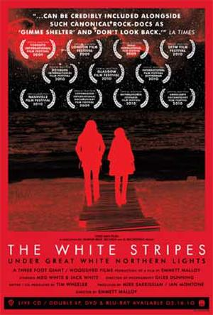 """Poster art for """"The White Stripes: Under Great White Nothern Lights."""""""