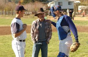 "Noah Miller, Ed Harris and Logan Miller in ""Touching Home."""