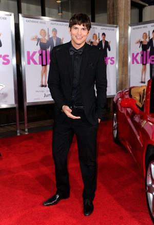 """Ashton Kutcher at the California premiere of """"Killers."""""""