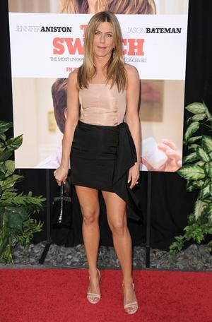 "Jennifer Aniston at the California premiere of ""The Switch."""