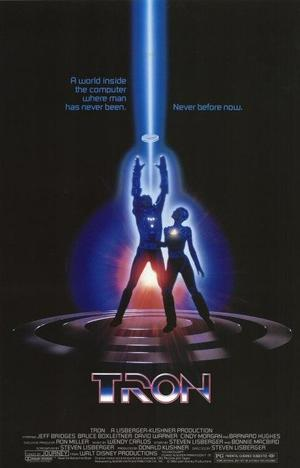 "Poster art for ""Tron."""