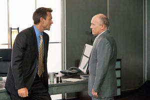 "Grant Bowler as Henry Rearden and Armin Shimerman as Dr. Potter in ""Atlas Shrugged."""