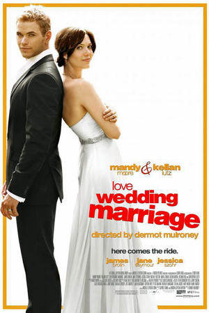 """Poster art for """"Love, Wedding, Marriage."""""""