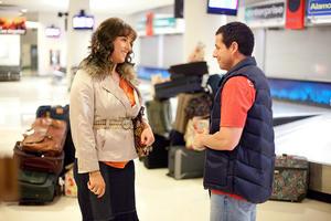 "Adam Sandler as Jill and Adam Sandler as Jack in ""Jack and Jill."""