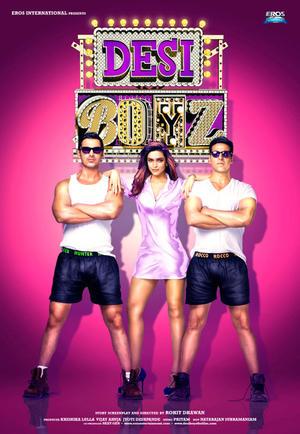 "Poster art for ""Desi Boyz."""