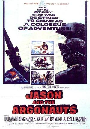 "Poster art for ""Jason and the Argonauts."""
