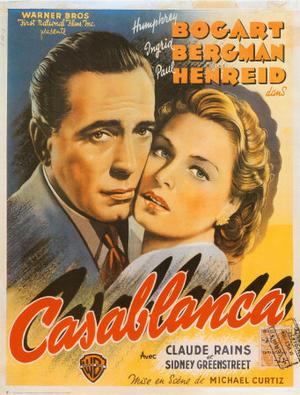 "Poster art for ""Casablanca."""