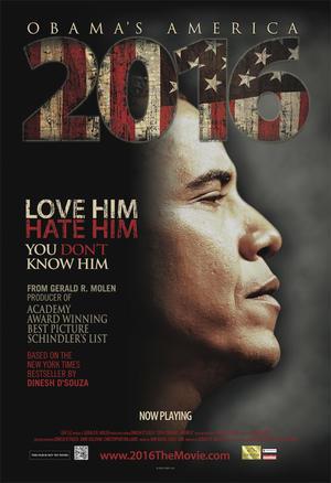 "Poster art for ""2016 Obama's America."""