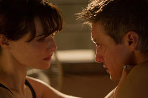 "Jeremy Renner and Rachel Weisz in ""The Bourne Legacy."""