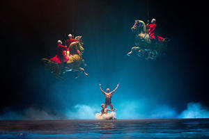 "A scene from ""Cirque du Soleil: Worlds Away."""