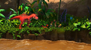 """A scene from """"Dino Time."""""""