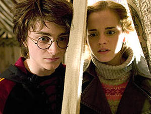 "Daniel Radcliffe and Emma Watson in ""Harry Potter and the Goblet of Fire."""