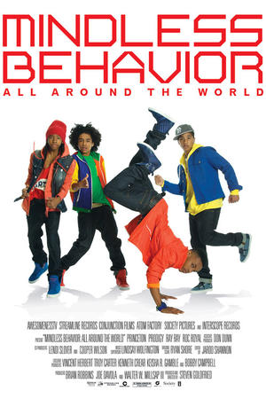 "Poster art for ""Mindless Behavior: All Around the World."""